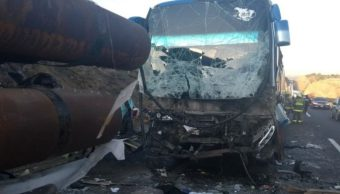 choque autobus plataforma jalisco pasajeros heridos
