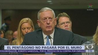 El Pentágono afirma que no pagará por el muro
