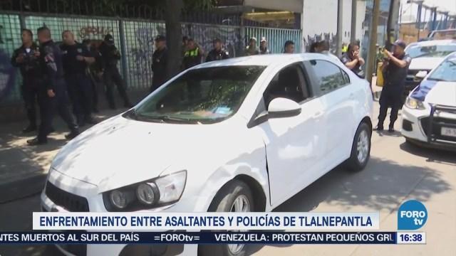 Enfrentamiento Entre Asaltantes Policías Tlalnepantla