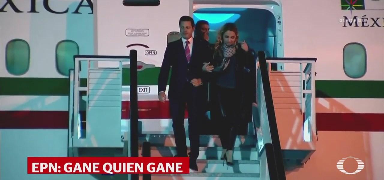 EPN arriba a España para reunirse con los reyes y el residente