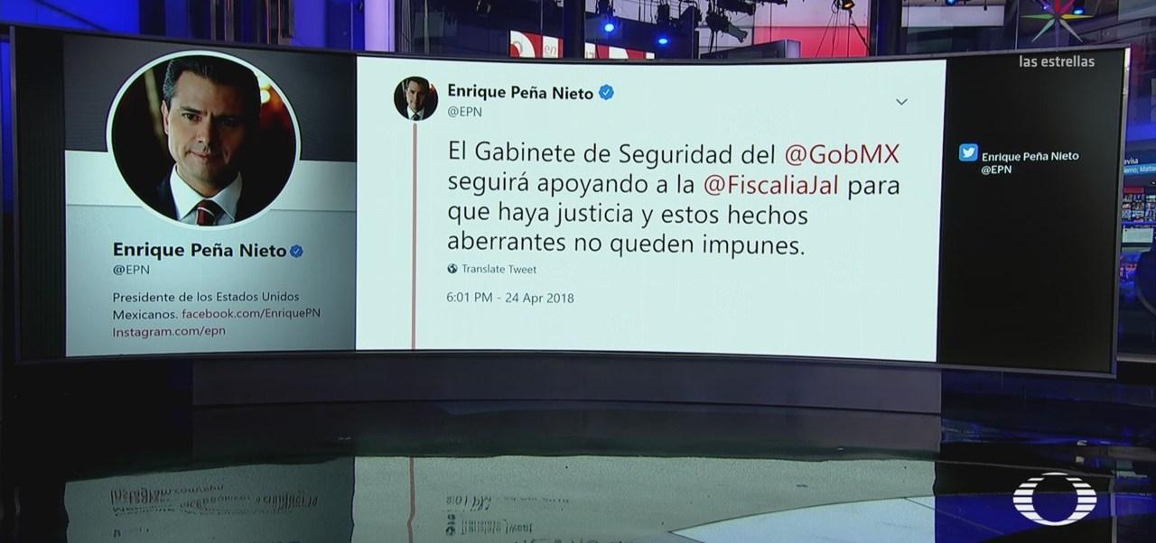 EPN emite condolencias por asesinato de cineastas en Jalisco