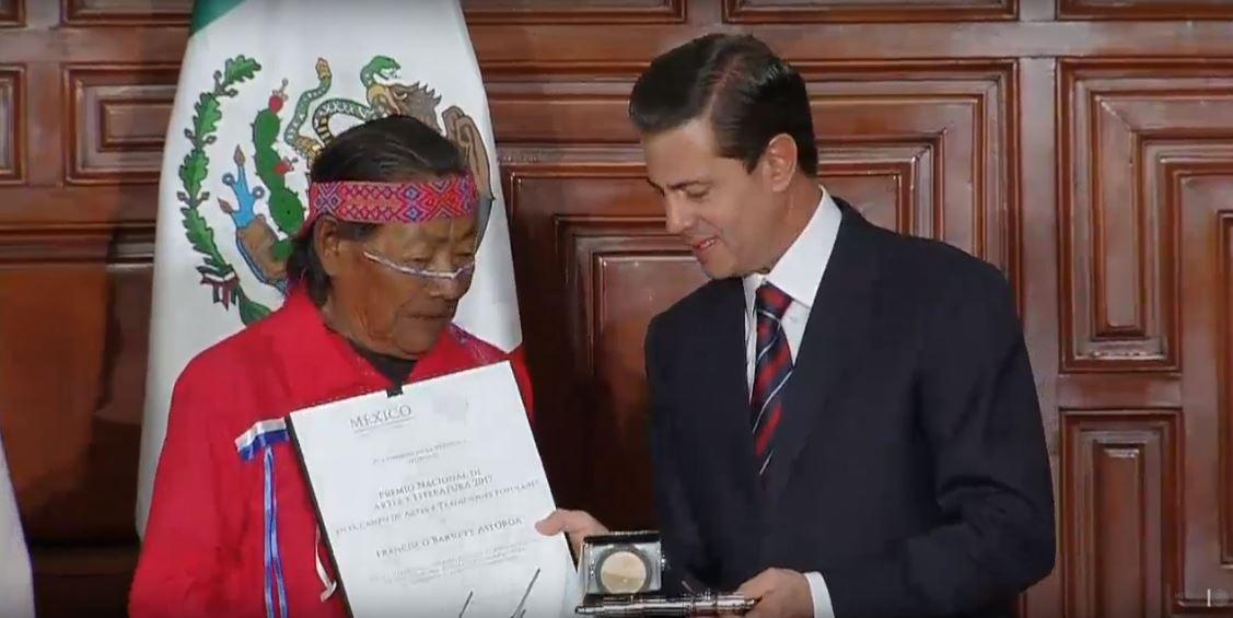 Entrega Peña Nieto Premios Nacionales de Ciencias, Artes y Literatura 2017