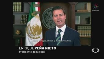 EPN fija postura de México ante envío de Guardia Nacional