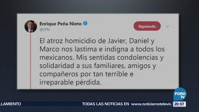 EPN se solidariza con familiares de los estudiantes asesinados en Jalisco