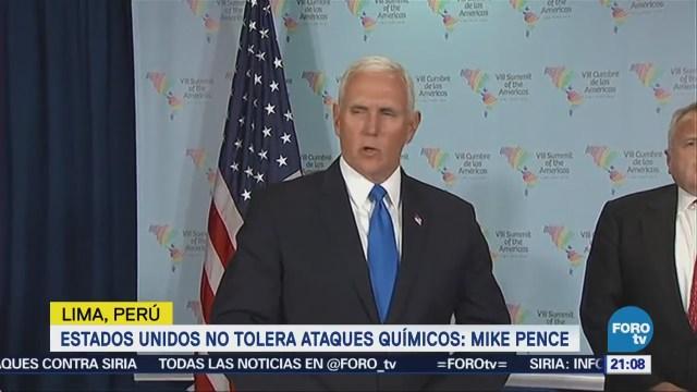 Estados Unidos Ataques Químicos Mike Pence