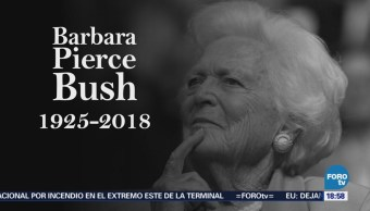 Falleció, Bárbara, Bush, Exprimera, Dama, Estados Unidos