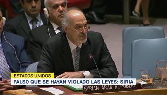 Falso que se hayan violado las leyes Siria