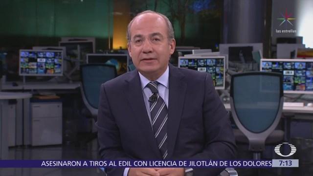 Felipe Calderón Hinojosa en la mesa de Despierta con Loret