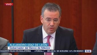 Gobernador de Banxico rinde informe en el Senado de la República