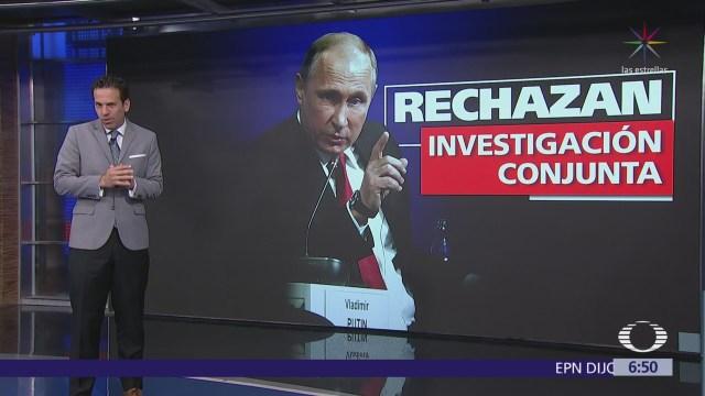 Gobierno de Rusia fue apartado de investigación del caso Skripal
