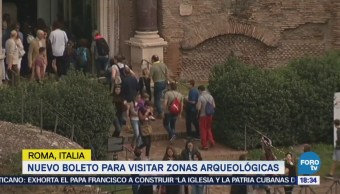 Nuevo Boleto Visitar Zonas Arqueológicas Roma