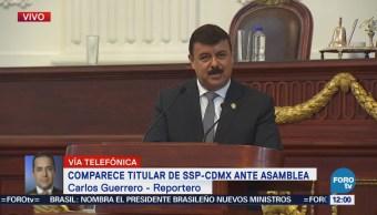 Hiram Almeida comparece en la Asamblea Legislativa de la CDMX
