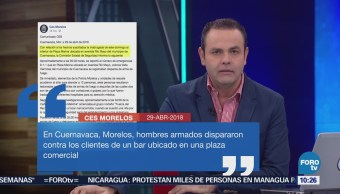Hombres armados Atacan Clientes Bar Cuernavaca Morelos