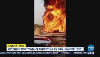 Incendio Toma Clandestina Gasolina San Juan Del Río Querétaro