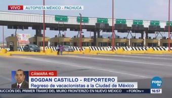 Incrementa aforo vehicular en la México-Pachuca tras vacaciones de Semana Santa