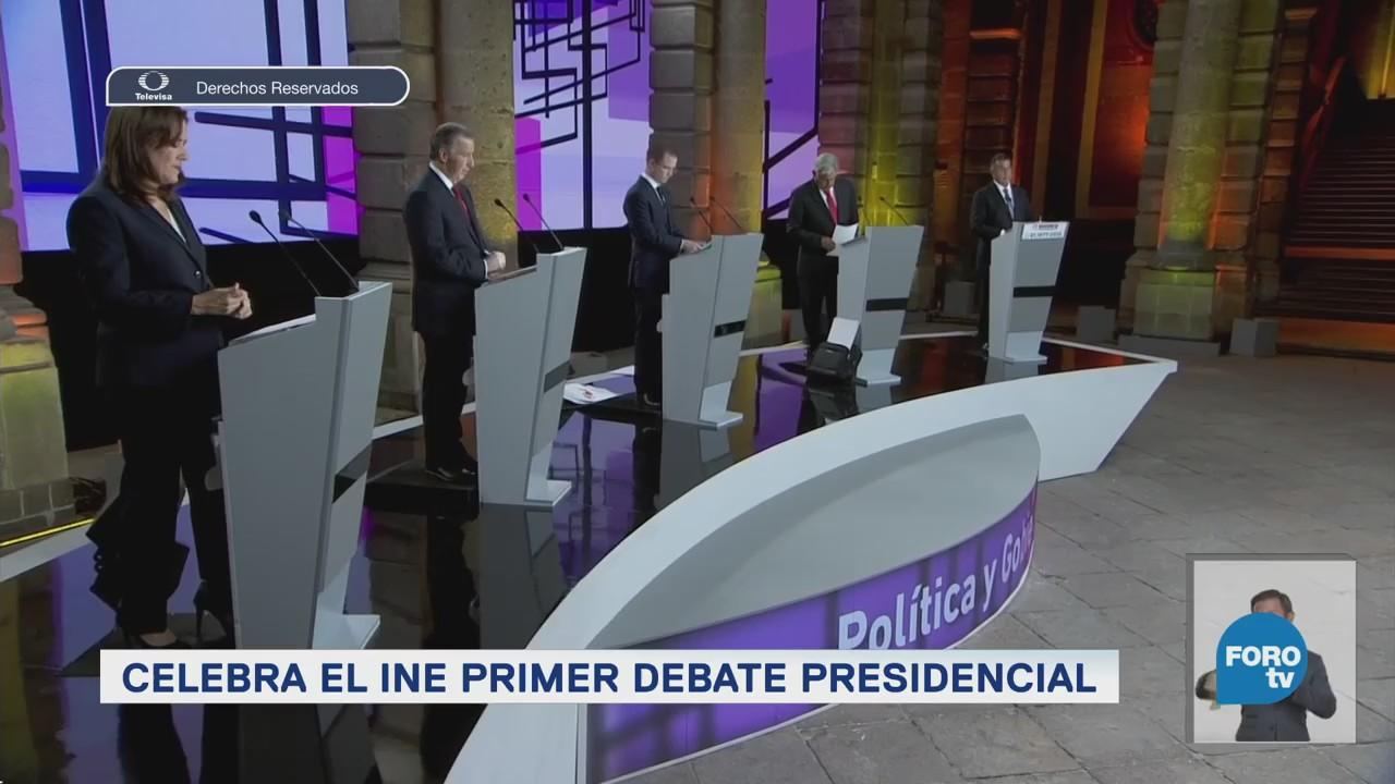 INE celebra primer debate presidencial