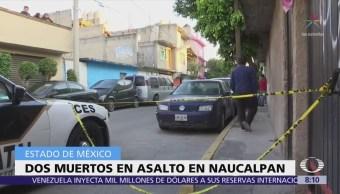 Intento de asalto deja dos muertos en Naucalpan