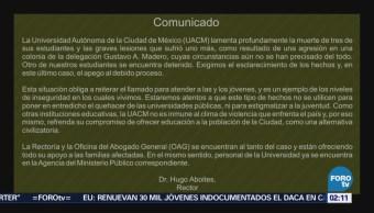 Investigan asesinato de estudiantes de la UACM