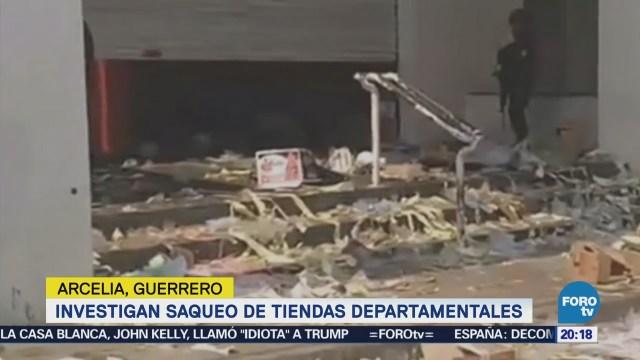 Investigan saqueo de tiendas departamentales en Guerrero