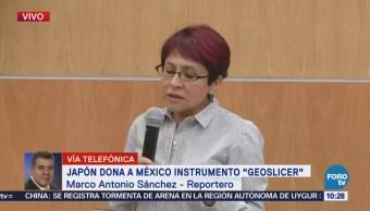 Japón dona a México instrumento 'Geoslicer'