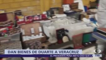 Juez de control entrega al gobierno de Veracruz bienes de Javier Duarte