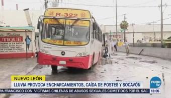Lluvia Provoca Encharcamiento Nuevo León Escobedo Monterrey
