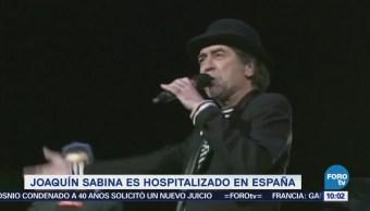 #LoEspectaculardeME: Joaquín Sabina es hospitalizado en España