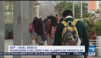 Lunes regresan a clases más de 25 millones de estudiantes en México