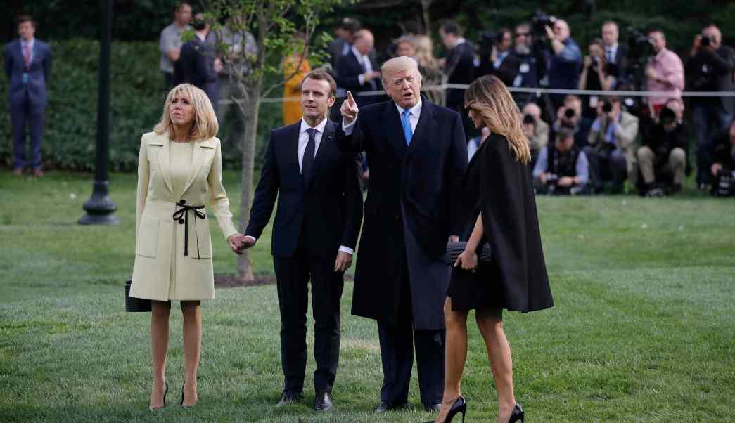 Image result for Macron inicia una visita de Estado a EE.UU.