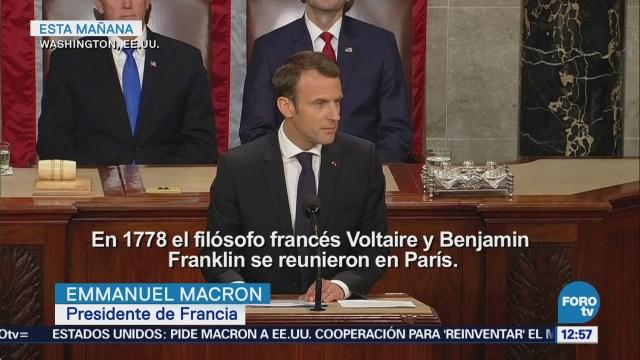 Macron insiste que EU debe abrirse a negociar un nuevo acuerdo con Irán