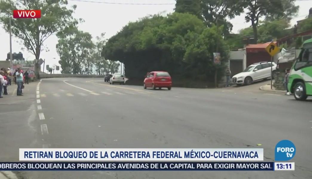 Manifestantes Retiran Carretera México Cuernavaca