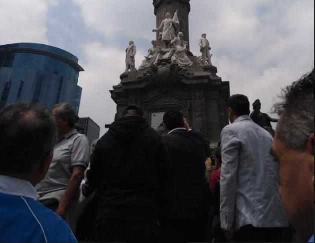 manifestates avanzan por paseo de reforma cdmx