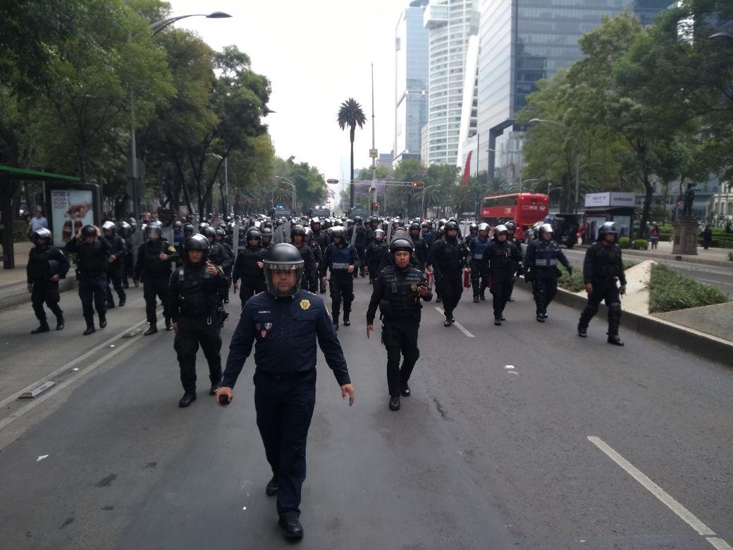manifestates avanzan por reforma cdmx
