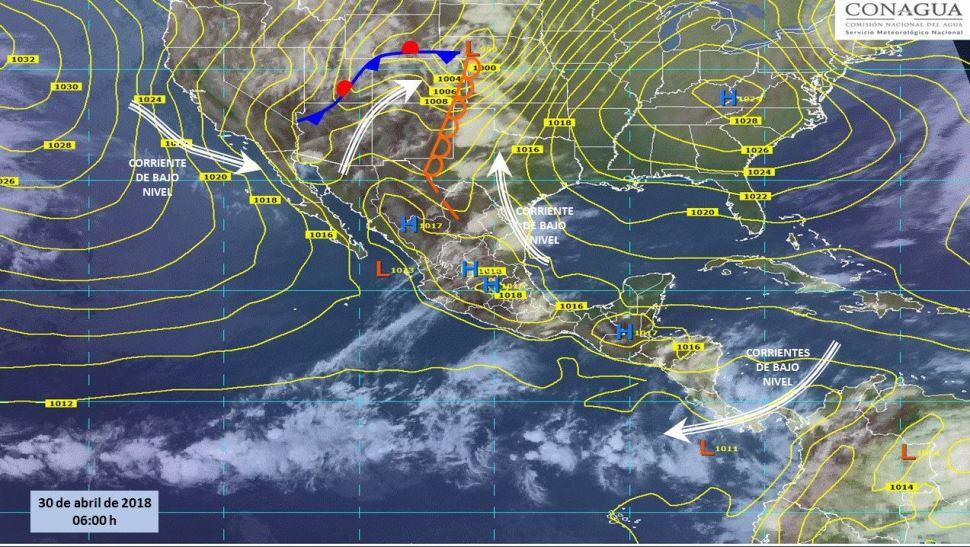 Mapa con el pronóstico del clima para este 30 de abril. (SMN)