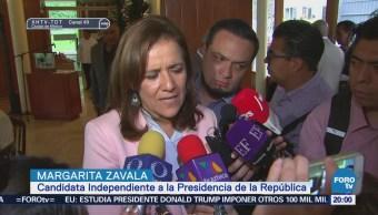 Margarita Zavala destaca unión de todos los candidatos