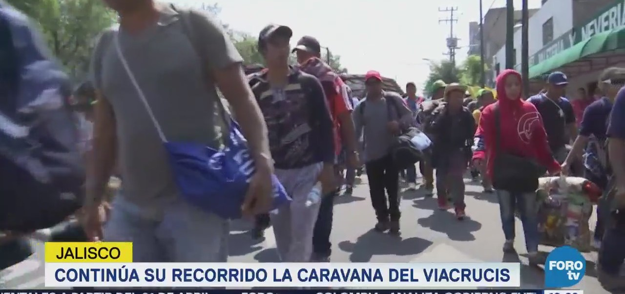 Caravana Migrantes Camino Salen Jalisco Viacrucis