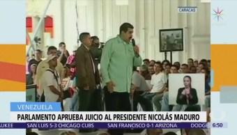 Mayoría opositora del Parlamento de Venezuela aprueba juicio político contra Nicolás Maduro