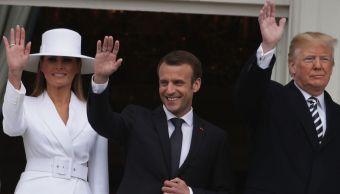 El vestido de Melania Trump en la cena de estado con Francia