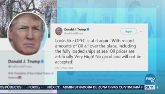Mercado petrolero retrocede tras crítica de Trump a la OPEP
