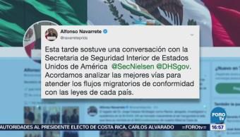 México Acuerda Eu Analizar Flujos Migratorios