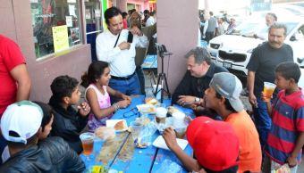 Caravana Migrante comienza a llegar a Mexicali, Baja California