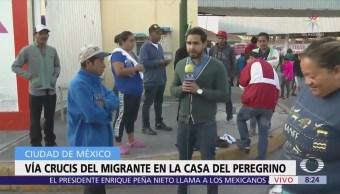 Migrantes centroamericanos piden ayuda en la CDMX