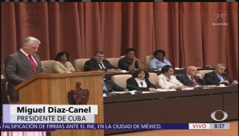 Miguel Díaz-Canel da su discurso como nuevo presidente de Cuba