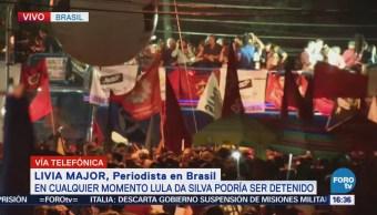 Miles Brasileños Rodean Sede Pt Apoyo Lula