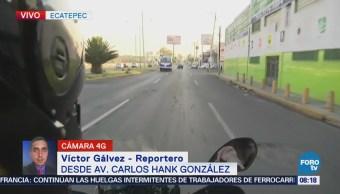 Motociclista muere arrollado por taxi en avenida Carlos Hank González