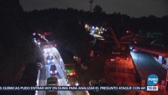 Muere Hombre Desplome Una Grúa Carretera México Toluca