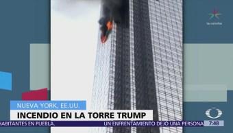 Muere un hombre por incendio en Torre Trump de Nueva York