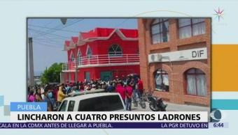 Mueren linchados cuatro presuntos ladrones en Puebla