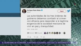 Peña Nieto condena asesinato de tres estudiantes de cine en Jalisco
