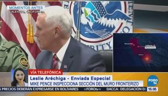 Pence Asegura Llegará Más Vigilancia Frontera México
